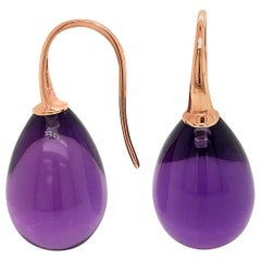 Hydro Amethyst Rose Gold 18 Karat Drop Earrings