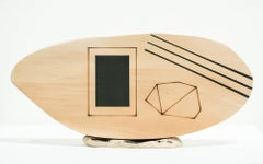 """Modus Volito 8,"" Found object abstract sculpture, mixed media, wood, geometric"