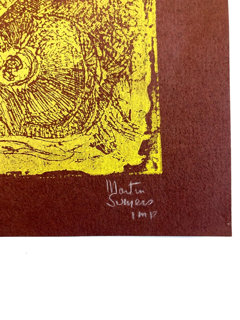 Boston Abstract Expressionist Hyman Bloom Monoprint Monotype Print Martin Sumers For Sale 1