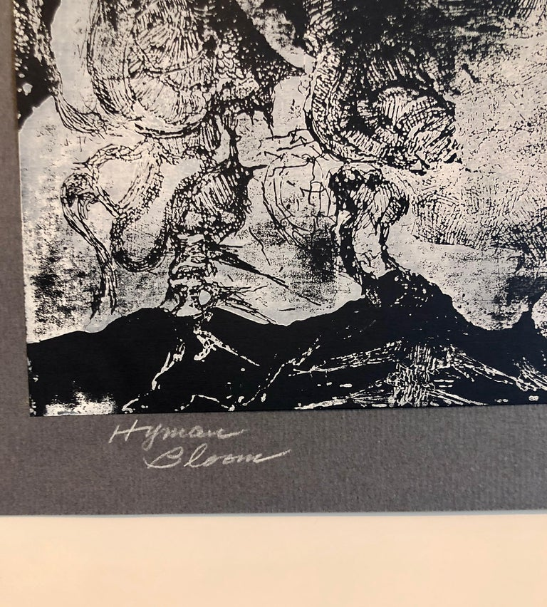 Boston Abstract Expressionist Hyman Bloom Monoprint Monotype Print Martin Sumers 1
