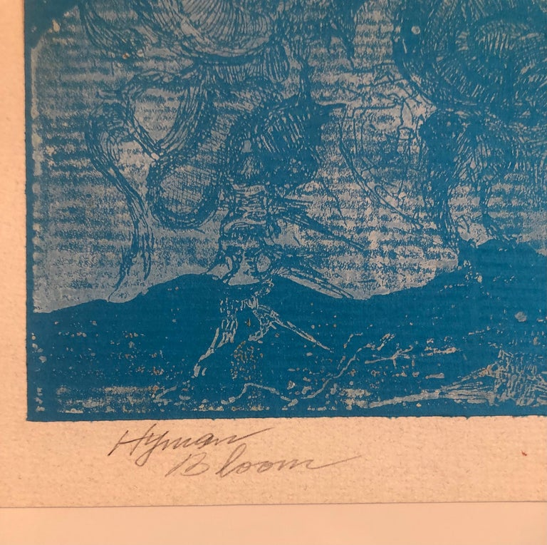 Boston Abstract Expressionist Hyman Bloom Monoprint Monotype Print Martin Sumers For Sale 2