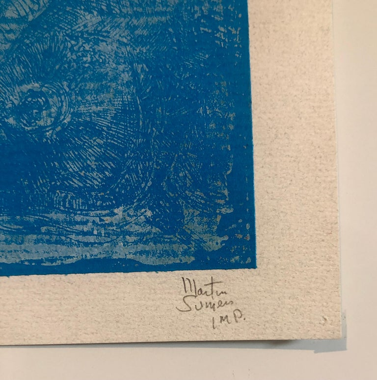 Boston Abstract Expressionist Hyman Bloom Monoprint Monotype Print Martin Sumers For Sale 4