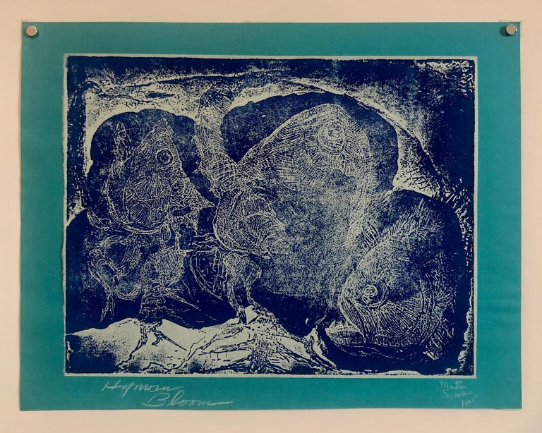Boston Abstract Expressionist Hyman Bloom Monoprint Monotype Print Martin Sumers For Sale 5