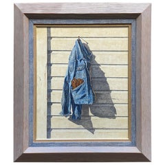 Hyper Realist Denim Jacket Painting by Armand LaMontagne, 1981