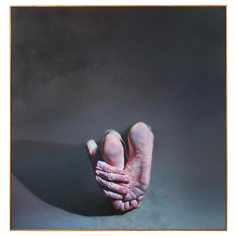 "Hyperrealist Painting by Istvan Sandorfi ""Lulu"" For Sale"