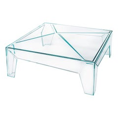 Hypertable Coffee Table in Extra Clear Glass, by Mario Bellini for Glas Italia