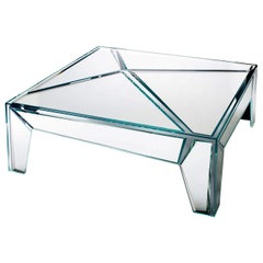 Hypertable Coffee Table in Mirror, by Mario Bellini for Glas Italia