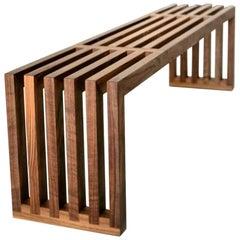 Hypnotizm Solid Hardwood Slatted Bench by Izm Design