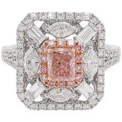 HYT GIA Certified Fancy Pink Diamond and White Diamond Cocktail Ring