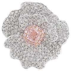 HYT GIA Certified Fancy Pink Diamond and White Diamond Engagement Ring