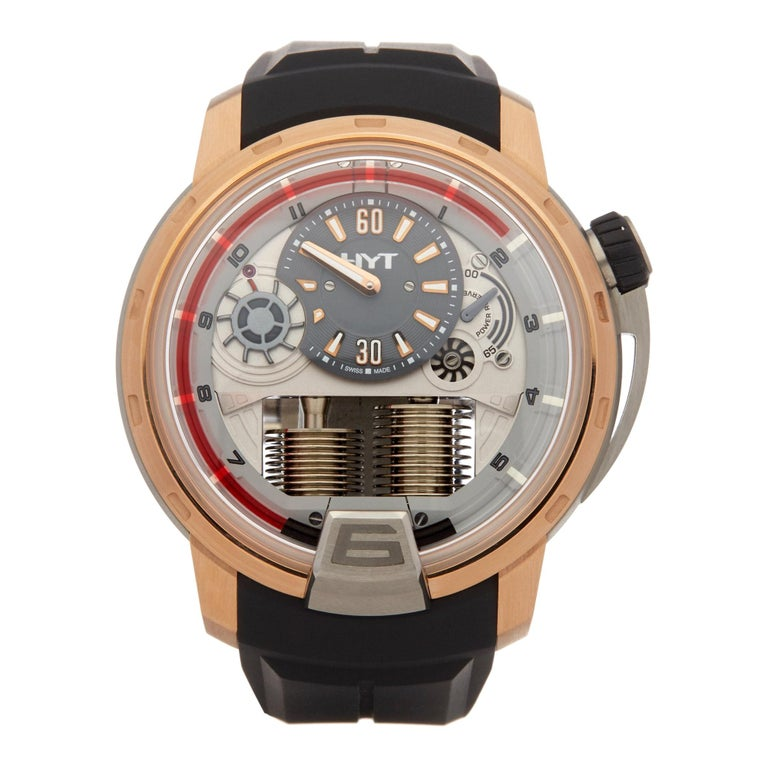 HYT H1 Rose Gold and Titanium 148-TG-02-RF-RU For Sale