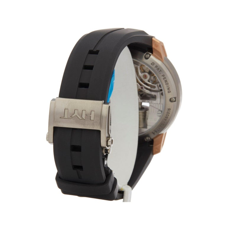 HYT H1 Rose Gold and Titanium 148-TG-02-RF-RU For Sale 1