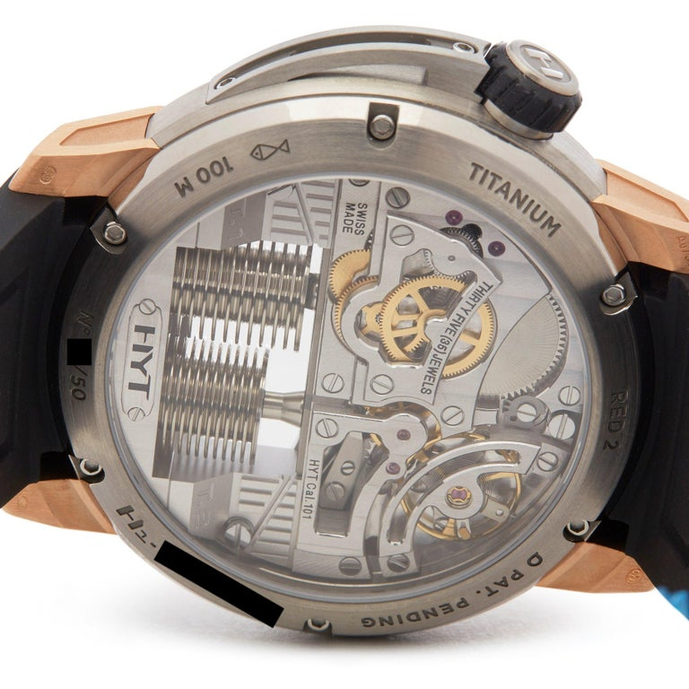 HYT H1 Rose Gold and Titanium 148-TG-02-RF-RU For Sale 3
