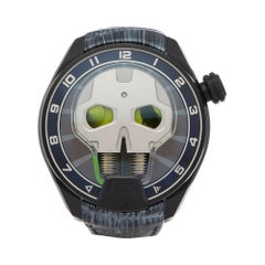 HYT H1 Skull Green Eye Dlc Coated Titanium 151-TD-41-GF-AB