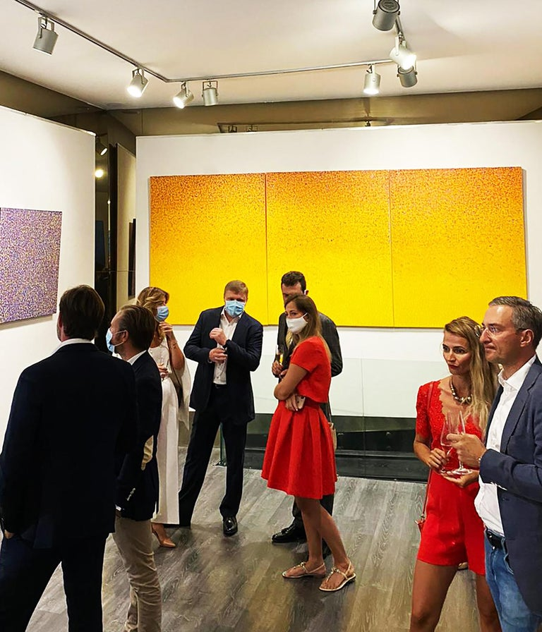 Bright Yellow Monochrome Painting