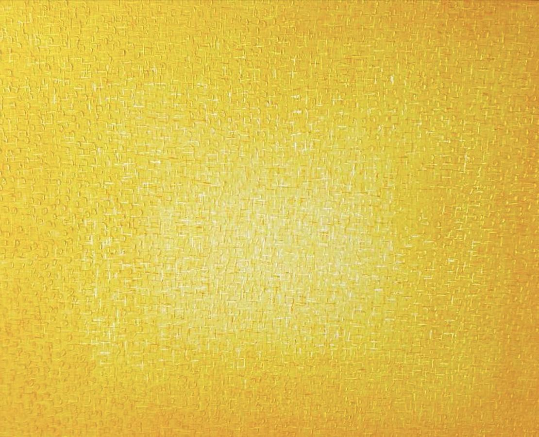 "Bright Yellow Mixed-Media Painting ""Ether V"", famous Korean Artist HyunAe Kang"