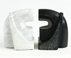 "Marble & obsidian Sculpture Composition ""Window in Heaven"", 1990"