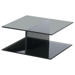 I-Beam Square in Black Low Table, by Jean-Marie Massaud fir Glas Italia