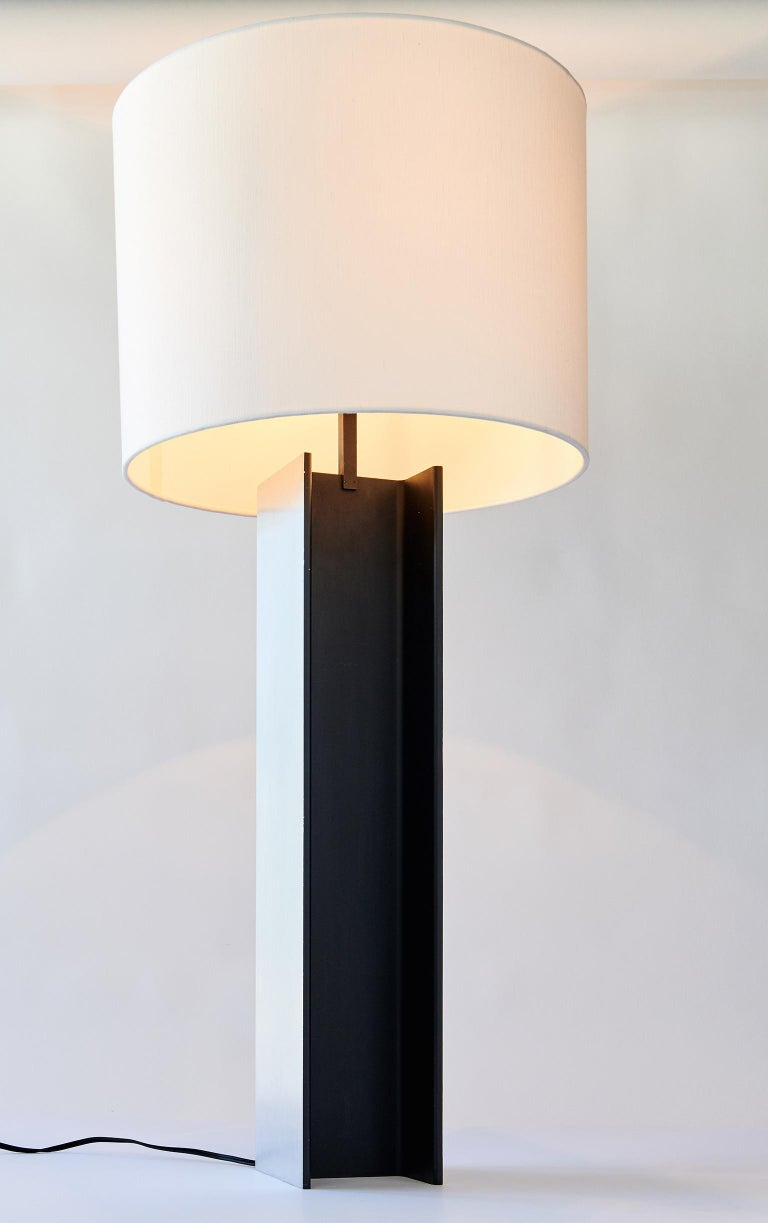 Polished I-Beam Table Lamp by Laurel
