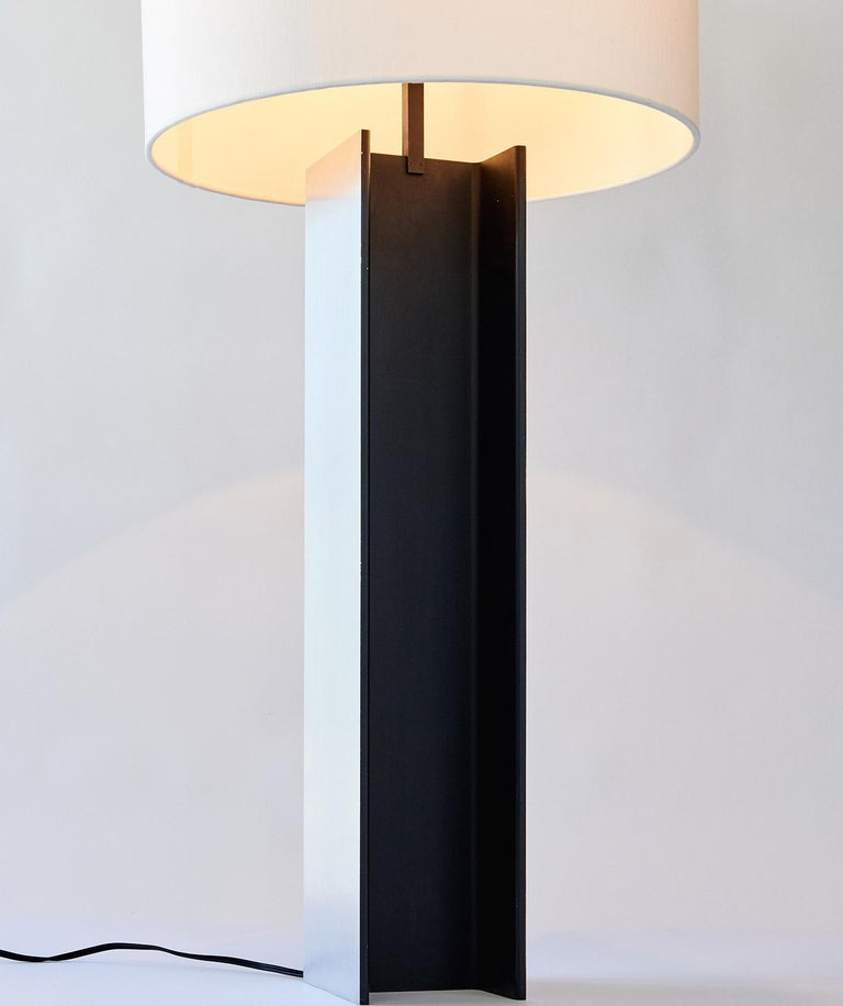 Designed in the 1960s by architect Jeff Jones for the Laurel Lamp Company, this table lamp fashioned from a section of steel I-beam has interesting affinities to the work of Enzo Mari (see elsewhere in my inventory) and, of course, the sculpture of