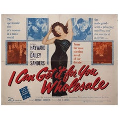 """""""I Can Get It for You Wholesale"""" 1951 U.S. Half Sheet Film Poster"""