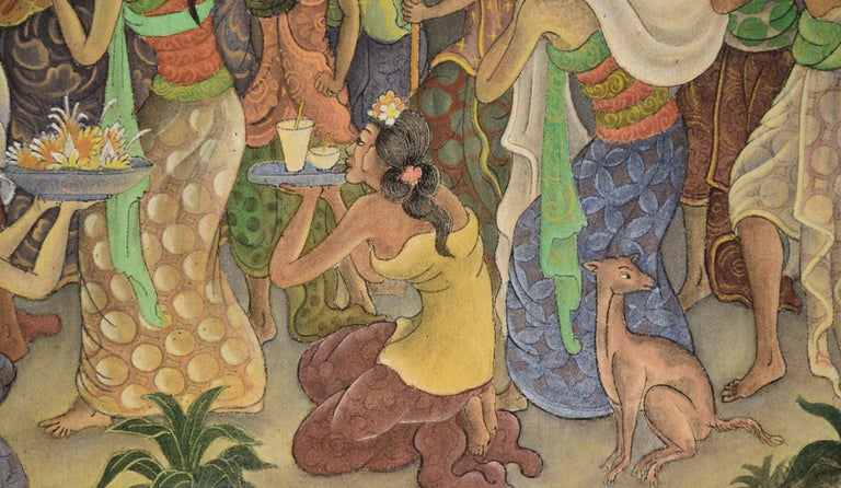 Procession Through the Jungle Village  For Sale 3