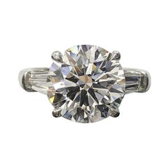 I Flawless E Color GIA Certified 6 Carat Diamond Solitaire Ring