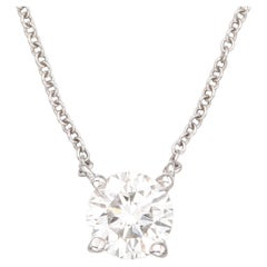 Internally Flawless GIA Certified 1.90 Carat Round Brilliant Cut Diamond Pendant
