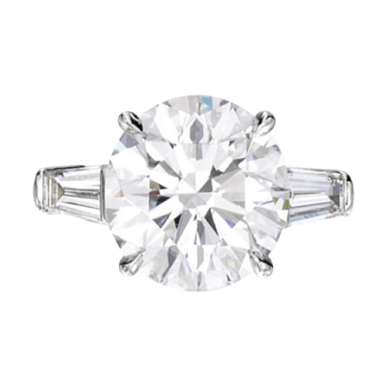GIA Certified 2.65 Carat Round Brilliant Cut Platinum Ring F Color VS2 Clarity