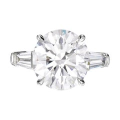 GIA Certified 2.65 Carat Round Brilliant Cut Platinum Ring F Color VS2 Clarity