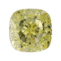 I Flawless GIA Certified 3.51 Carat Fancy Intense Yellow Diamond