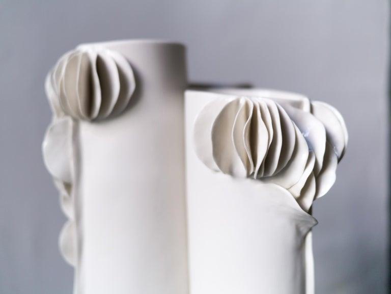 Glazed I Giunchi Vase by Biancodichina For Sale