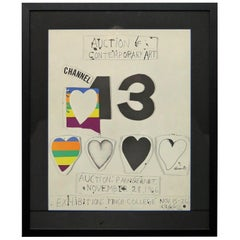 """I Love Public Television"" 'for Channel 13' by Jim Dine"