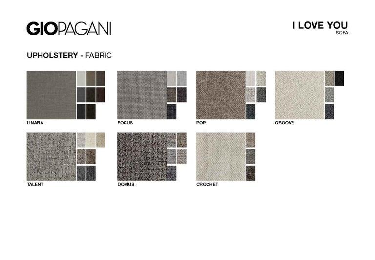 I Love You 3-Seat Sofa in coral wool velvet In New Condition For Sale In Ponte Enza di Gattatico, IT