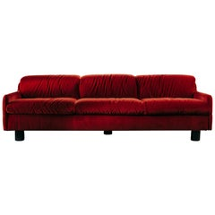 I Love You 3-Seat Sofa in coral wool velvet