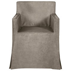 I Love You Armchair in Leather and Wood by Roberto Cavalli