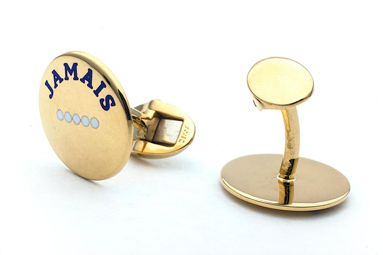 Contemporary 'I Love You More Today' Gold Cufflinks For Sale