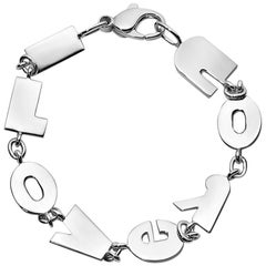 """I Love You"" Sterling Silver Bracelet"