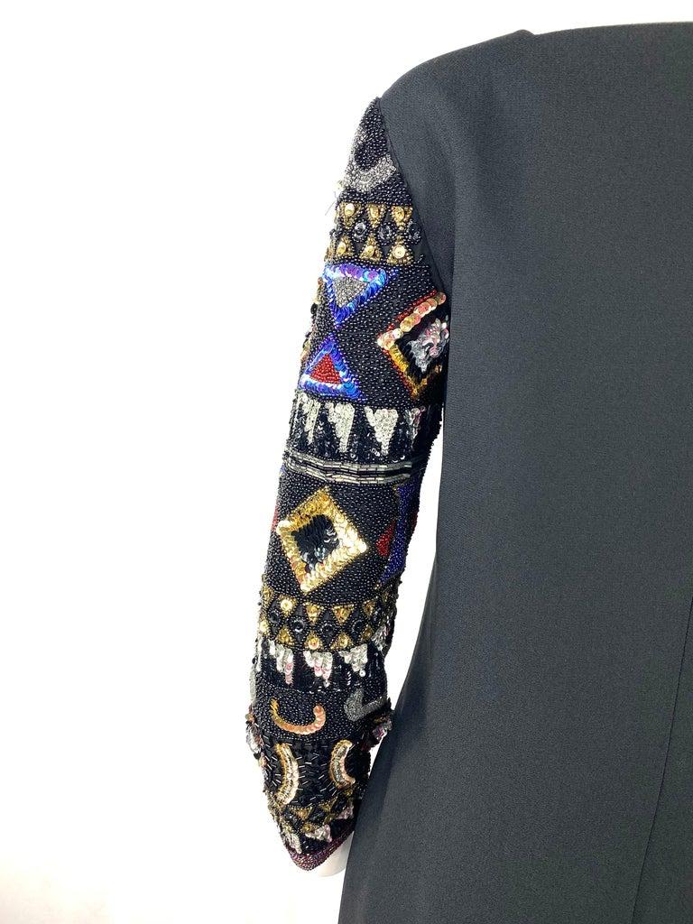 I. Magnin Black Mini Evening Dress For Sale 1