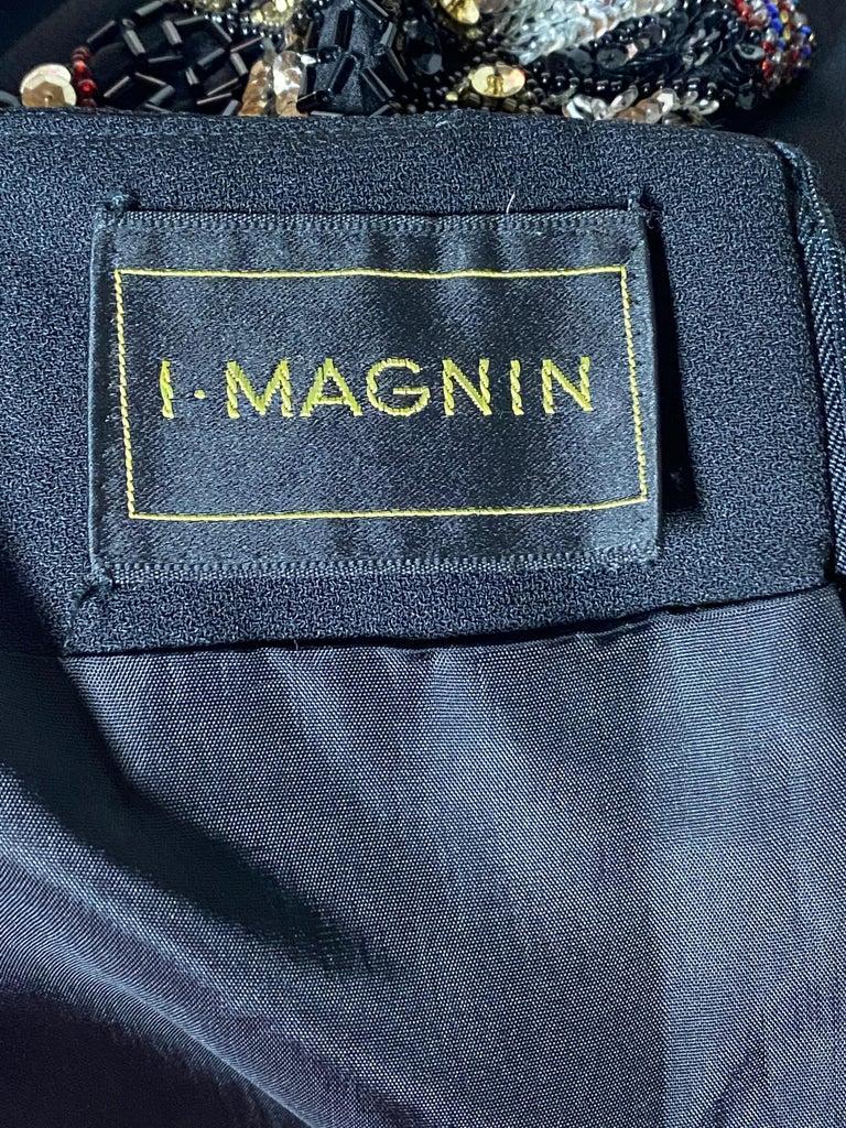 I. Magnin Black Mini Evening Dress For Sale 2