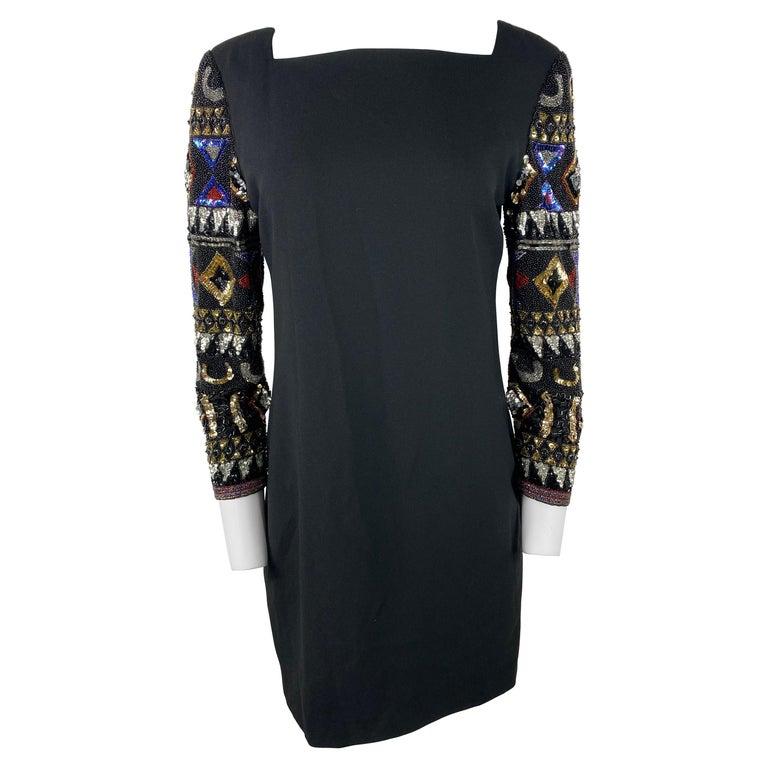 I. Magnin Black Mini Evening Dress For Sale