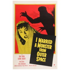 'I Married A Monster From Outer Space' Original Movie Poster, American, 1958