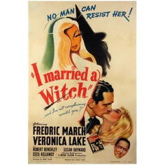 I Married a Witch '1942' Poster