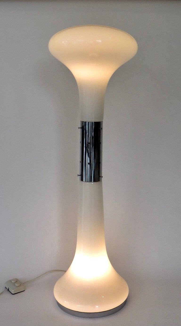 Mid-Century Modern I Numerati Soffiato Sculptural Floor Lamp by Carlo Nason Mazzega Murano Italy For Sale