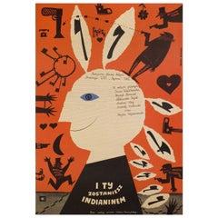 """""""I ty zostaniesz Indianinem"""" 1962 Polish A1 Film Poster"""