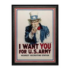 """I Want You for the U.S. Army"" Original WWI Poster, James Montgomery Flagg, 1917"
