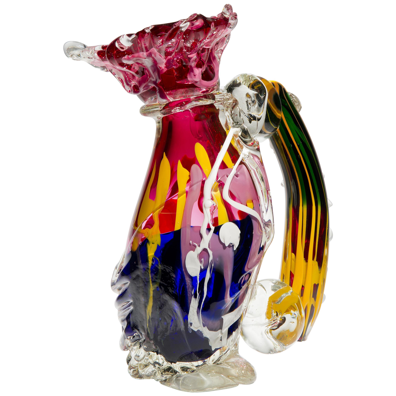 I Was S, a Unique Multicolored Heavy Glass Sculpture by Fredrik Nielsen