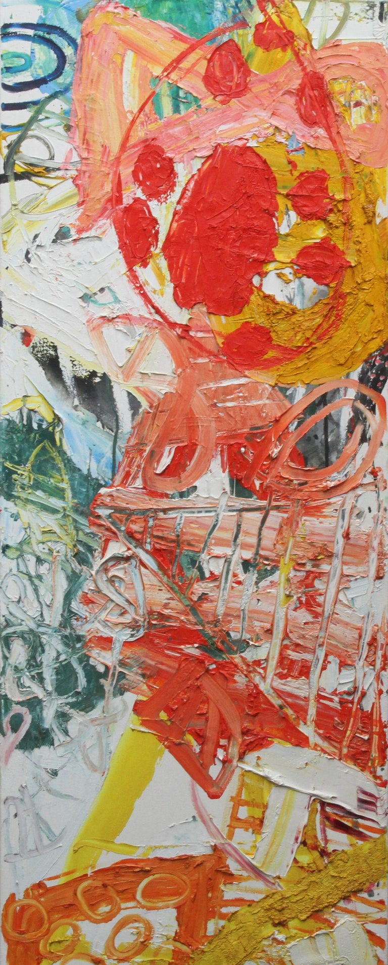 Midsummer - Scottish 1998 exhibited art Abstract Expressionist oil painting For Sale 7