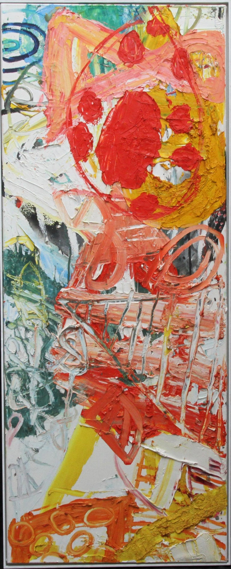 Iain Robertson Abstract Painting - Midsummer - Scottish 1998 exhibited art Abstract Expressionist oil painting