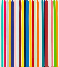 Untitled -- Acrylic Paints, Poured Lines, Colourful Art by Ian Davenport